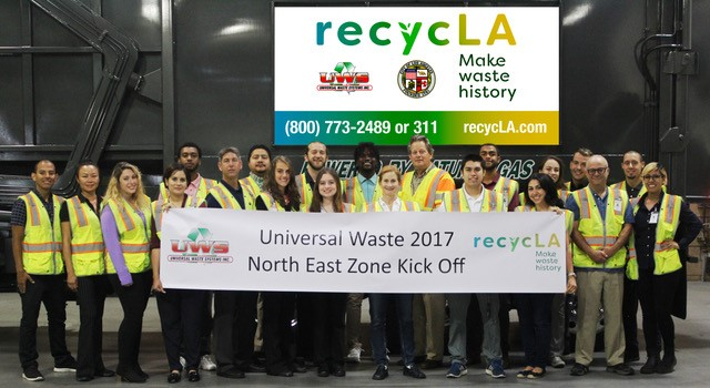 Clements Zero Waste Team at Landfill
